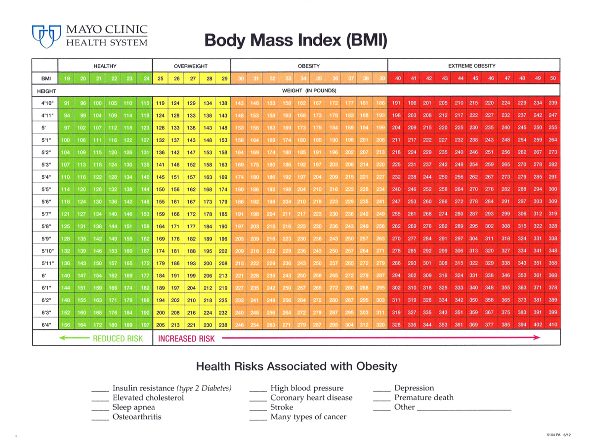 Inner image interpreting your results view the mayo clinics bmi chart for adults nvjuhfo Choice Image